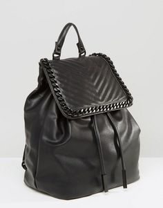 3a21433e764 ALDO Backpack With Chevron   Chain Detail