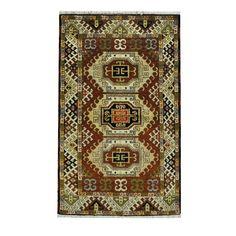Herat Oriental Indo Hand-knotted Tribal Kazak / Ivory Rug