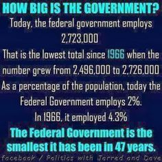 Big government?...CFC....and it's wrong. We need more EPAers to catch & punish the polluters. We need more food inspectors. We need more people to find out what poisons are being put in our foods. We need more IRS to catch the tax cheats, especially the corporations hiding it overseas. We need more prosecutors to punish the thieving banks!