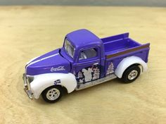 JOHNNY LIGHTNING 1940 FORD PICK UP TRUCK DIE CAST CAR 1/64 PURPLE COCA COLA #JohnnyLightning #Ford