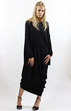 Gaya Black Asymmetric Dress – LagenLuxe Clothing