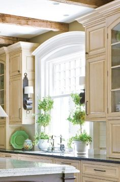This Arched Window Molding Would Look Awesome Around The Kitchen Window