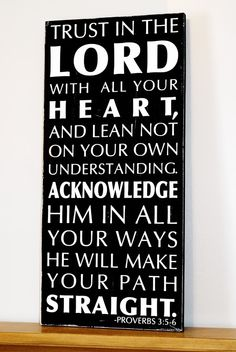 Trust in the Lord Wood Sign Typography Art - Sign $48