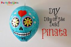DIY Day of the Dead Pinata - Party Delights & Red Ted Art…