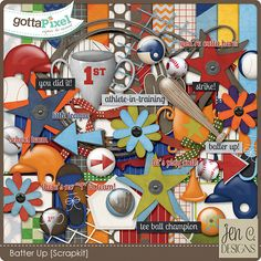 Batter Up: Scrapkit by Jen C Designs  $5.00