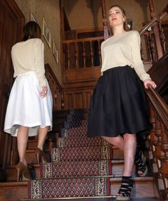 Tenues femme de la collection CONOUCO 2016 en lin bio made in France. Waist Skirt, High Waisted Skirt, Bio, Skater Skirt, France, Skirts, Collection, Fashion, Outfits