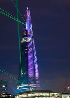 The Shard Laser Show -London