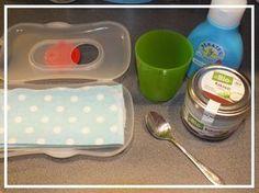 Baby-Feuchttücher leicht selbst gemacht, mit leckerem Kokosduft. #landmuttis.de