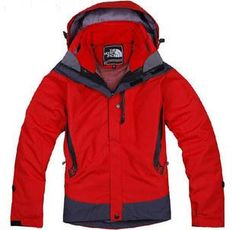 Womens The North Face 3 In 1 Jacket Red