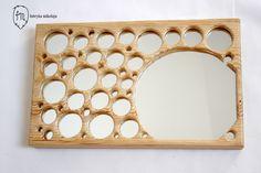 Handmade mirror, model name: Tectonia, Dimensions: 44x27x4cm