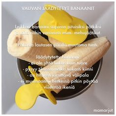 Vauvan jäädytetyt banaanit Baby Food Recipes, Healthy Recipes, Baby Snacks, Ice Ice Baby, Baby Led Weaning, Cooking With Kids, Kids Meals, Food And Drink, Menu