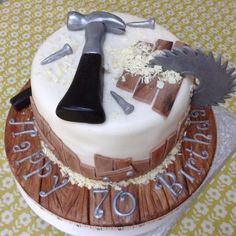 Carpenter woodwork birthday cake