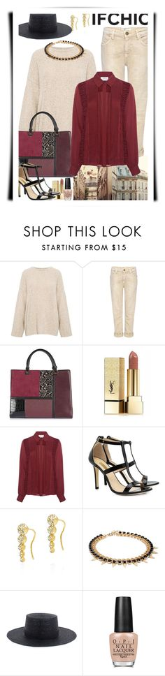 """""""Ifchic style"""" by ann-kelley14 ❤ liked on Polyvore featuring IRO, Current/Elliott, Topshop, Yves Saint Laurent, Tanya Taylor, Dee Keller, Fallon, Joomi Lim, Janessa Leone and OPI"""