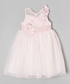 Look at this Donita Pink Sheer Floral Dress - Girls on #zulily today!