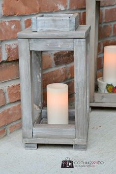 DIY wood lanterns -
