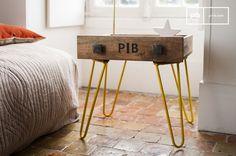 La mesa auxiliar Edgar se puede colocar dentro de cualquier estilo de interior vintage.