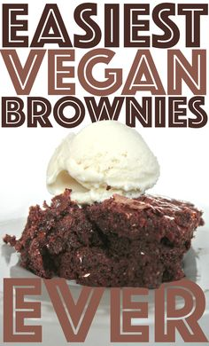 Rich vegan brownies with simple ingredients! #simple #vegan #baking