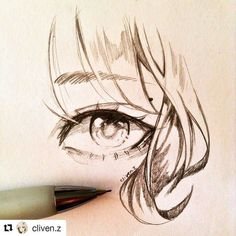 Sketch by @cliven.z  A simple eye sparkly eye  Today was my last exam! Now I'm free to draw more so I might post more often rather than 2-4 days. I hope I can improve tons this summer!  #eye #doodle: