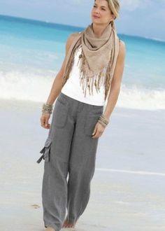 Weekend linen trousers , Weekend Linen Pants , 2019 Source by janmbreuker Boho Fashion Over 40, Plus Size Fashion For Women, Fashion Tips For Women, Bohemian Mode, Linen Trousers, Fall Fashion Trends, Summer Outfits, Fashion Outfits, Women's Fashion