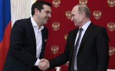 """Alexis Tsipras and Vladimir Putin hold a press conference in the Kremlin on Wednesday. The Greek prime minister has called on Europe to end its sanctions against Russia during a visit to Moscow, warning that they could lead to a """"new cold war"""".  Alexis Tsipras also rebuked other European leaders who had criticised his two-day visit to the Russian capital, after meeting Vladimir Putin in the Kremlin on Wednesday.  Brussels is nervous that the new Greek government is breaking European unity…"""