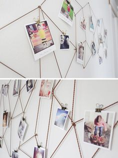 "I added ""DIY Geometric Photo Display 