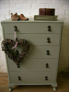 Olive green with black handles