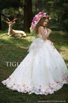 wedding dress_color dress (w316)