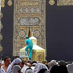 A cleaner  polishing  maccami Ibrahim  # Mecca