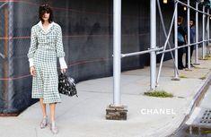 "Chanel Spring/Summer 2016 Ready-To-Wear Ad Campaign. ""City Western"" Photographed By: Karl Lagerfeld. Models. Lineisy Montero Feliz. Mica Arganaraz. Shot In: Brooklyn, NY, USA."