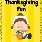 This Thanksgiving packet has worksheets for the following:  -ing, -th, and -ur.PDF DOCUMENTS:Documents are in PDF format. Please download one o...