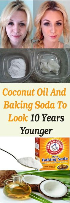 This Is How To Use Coconut Oil And Baking Soda To Look 10 Years Younger #fitness #beauty #hair #workout #health #diy #skin #Pore #skincare #skintags #skintagremover #facemask #DIY #workout #womenproblems