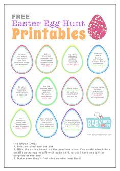 Easter Egg Hunt printable Outside