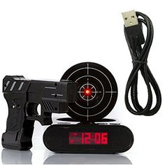 DELIWAY Newwest Version Novelty USB Gun Alarm Clock Funny Target Shooting Game Toys Gifts For Chirstmas New Year (Black) DELIWAY http://www.amazon.com/dp/B017PB8L0C/ref=cm_sw_r_pi_dp_i1uAwb10GJJ4J