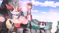 Serena with her Braixen and her Pancham Pokemon X And Y, Pokemon Gif, Pokemon Stuff, Eevee Evolutions, Pokemon Pictures, Childhood Friends, Tmnt, Good Music, Pikachu