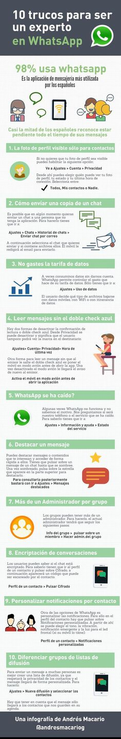 con 10 trucos para ser un experto en WhatsApp. Marketing Digital, Content Marketing, Online Marketing, Social Media Marketing, Whatsapp Info, Whatsapp Tricks, Content Manager, Whatsapp Marketing, Coaching
