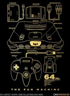 N64 is available until 10/19 at OnceUponaTee.net starting at $12! #Nintendo #Gaming #VideoGames