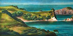 Landscape Paintings, Landscapes, New Zealand Landscape, Past, Ocean, River, Paisajes, Scenery, Landscape