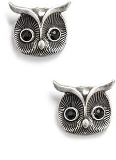 Modcloth Wherefeather You Please Earrings in Silver