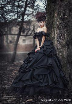 Quinceanera black dress Evening dress ball by AugustVanDerWalz