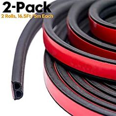 Universal Self Adhesive Auto Rubber Weather Draft Seal Strip Inch Wide X Inch Thick,Weatherstrip for Car Window and Door,Engine Cover Soundproofing,Total Rolls of Ft Long Window Draft, Door Draft, Soundproofing Material, Soundproofing Walls, Door Weather Stripping, Tonneau Cover, Decorative Trim, Truck Bed, Sound Proofing