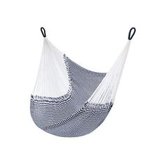Vineyard Hanging Chair Hammock Navy Outdoor Hammock Accessories ($179) ❤ liked on Polyvore featuring home, outdoors, patio furniture, hammocks & swings, outdoor hanging chair and outdoor hammock