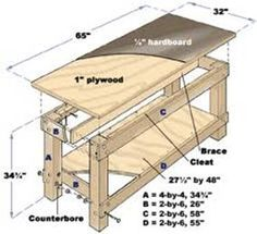 Free Workbench Diagrams | ... your own work bench is an easy task if you have work bench plans
