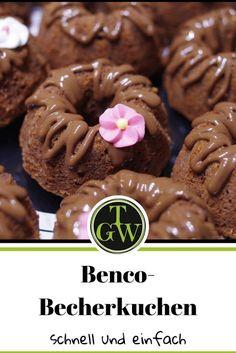 #Rezept für #schneller #Becherkuchen mit #Benco und #Walnüssen - ideal für #Muffins und #Cupcakes Cupcakes, Sausage, Cookies, Meat, Muffins, Desserts, Food, Treats, Children