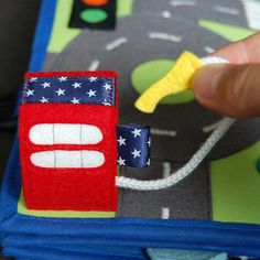 2 Quiet book pages  Car and Traffic roads PATTERN & TUTORIAL
