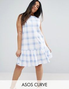 Buy it now. ASOS CURVE Drop Hem Dress in Pastel Blue Check - Multi. Plus-size dress by ASOS CURVE, Checked fabric, Crew neck, Sleeveless design, Dropped frill hem, Button-keyhole back, Regular fit - true to size, Machine wash, 100% Cotton, Our model wears a UK 18/EU 46/US 14 and is 170cm/5'7 tall. ABOUT ASOS CURVE Say goodbye to awkward-fitting plus-size fashion with our ASOS CURVE collection. Giving shout-outs to denim, occasionwear and jumpsuits, our London-based design team nail your…