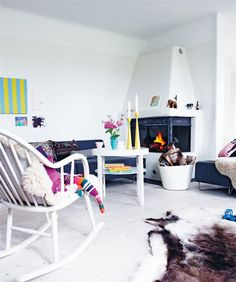 Corner Fireplace Design White Walls Small Living Room , Corner Fireplace Design Ideas In Home Design and Decor Category Living Room Scandinavian, Scandinavian Style, Nordic Style, Scandi Style, Home Fireplace, Fireplace Design, Corner Fireplaces, Fireplace Ideas, Living Room Colors