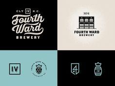 Fourth Ward Brewery Logo family by Matt Stevens