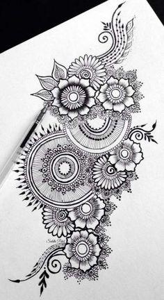 37 Ideas flowers tattoo men mandala is part of pencil-drawings - pencil-drawings Mandala Doodle, Mandala Art Lesson, Mandala Artwork, Doodle Art Drawing, Zentangle Drawings, Cool Art Drawings, Mandala Drawing, Art Sketches, Zentangles