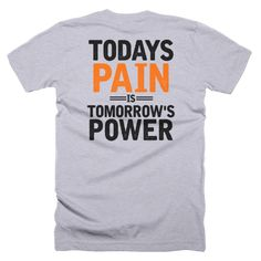 No pain no gain. Learn some pain management skills by always keeping your eyes forward to tomorrow!  https://www.nesherapparel.com/products/todays-pain-t-shirt?variant=25413783824