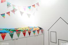 kids room//washi tape..